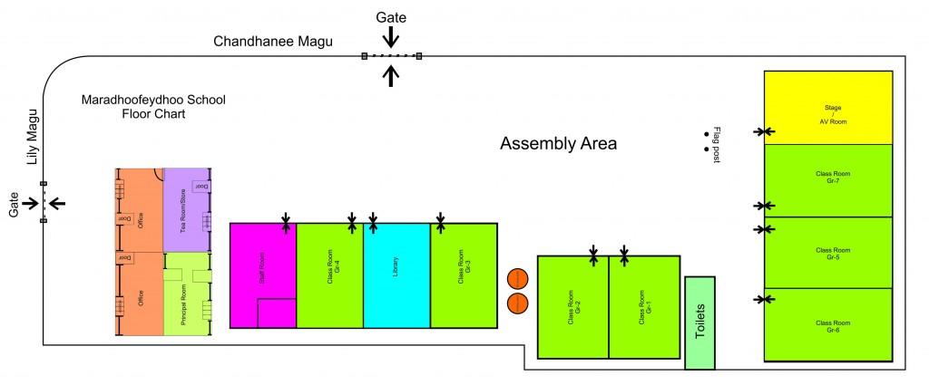 Maradhoofeydhoo School floor chart